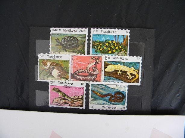 znaczki laos