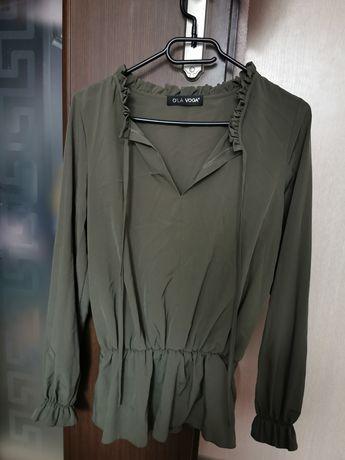 Bluzka koszula falbanka O'LA VOGA khaki