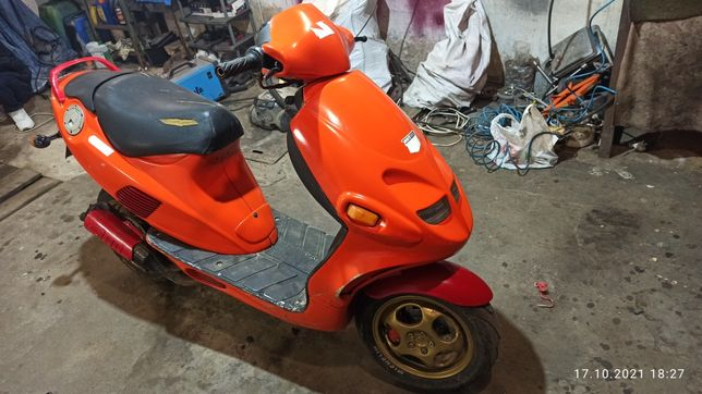 Скутер на полном ходу