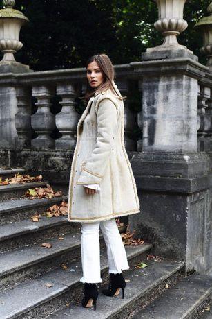 299€ Новая H&M Studio замшевая дубленка пальто куртка XC, С, М, Л