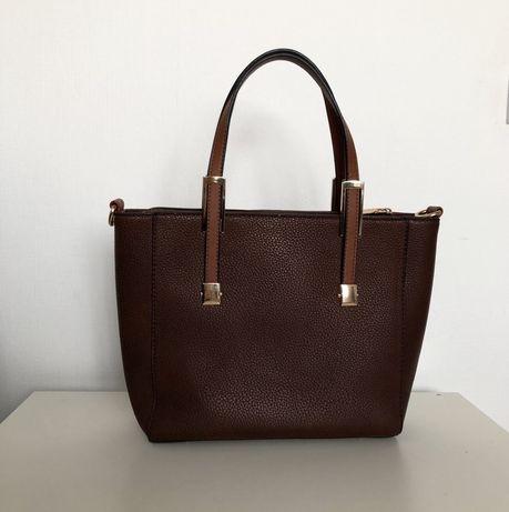 Сумка жіноча сумка сумочка женская коричневая трапеция прямоугольная