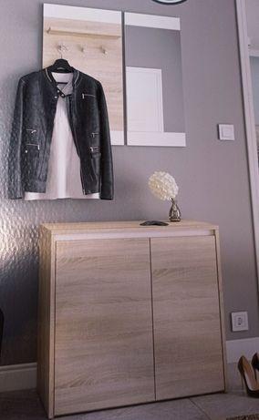 Garderoba zestaw mebli do przedpokoju lustro szafka na buty wieszak