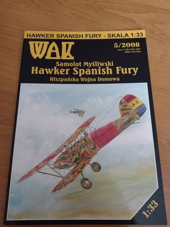 Model kartonowy. WAK. Hawker Spanish Fury