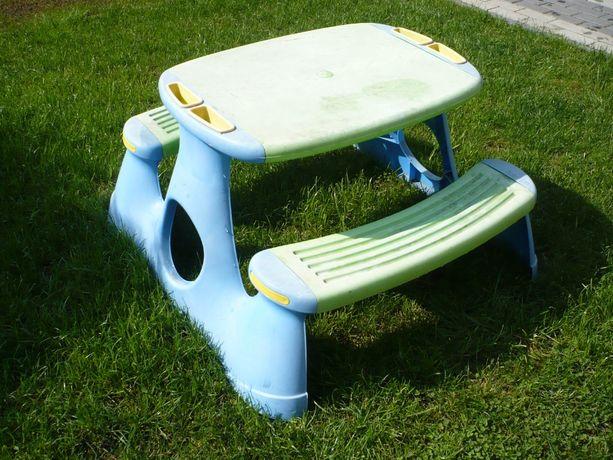 Stolik ogrodowy z ławeczkami dziecięcy