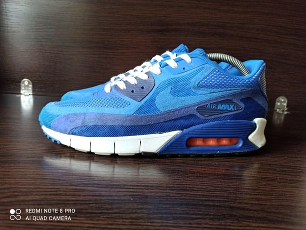 Кроссовки Nike Air Max 90 Breathe Hyper Cobalt. 644204-400. Р 44 на 28