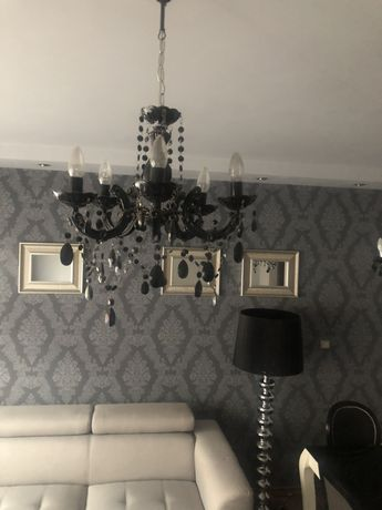 Lampa wisząca, żyrandol , kandelabr w stylu glamour , kryształki