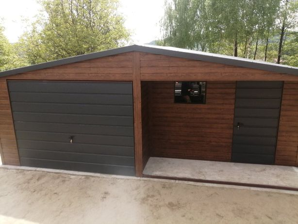 Garaż Blaszany 6x6 6x7 4x6 Blachodachówka Profil garaze drewnopodobne