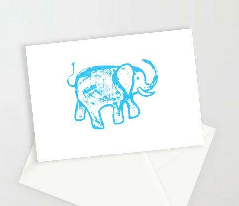 kartki ze słoniem na szczęśce, zaproszenia, podziękowania dla gości