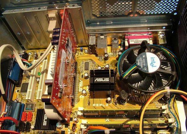 комплект плата p5pl2+проц Pentium d945+память 2gb + кулер - 2299руб.