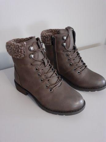Skórzane buty 37 kozaki ze skóry naturalnej