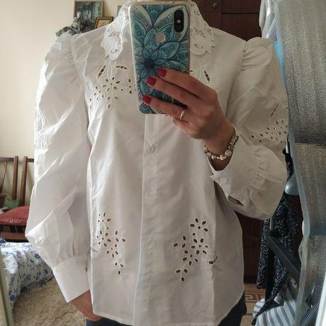 Белая блузка zara, mango, Stradivarius