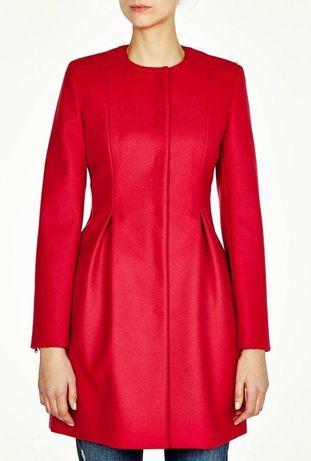 Идеальное весеннее шерстяное пальто красное max mara размер 38