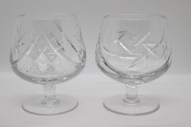 2 Copos Ballon Cristal Lapidado Vintage Brandy Cognac