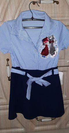 Стильное платье, можно в школу