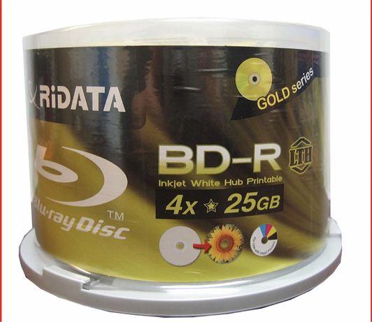 Bd-r Ridata,25 gb,4x,printable,gold серия диски блю рей