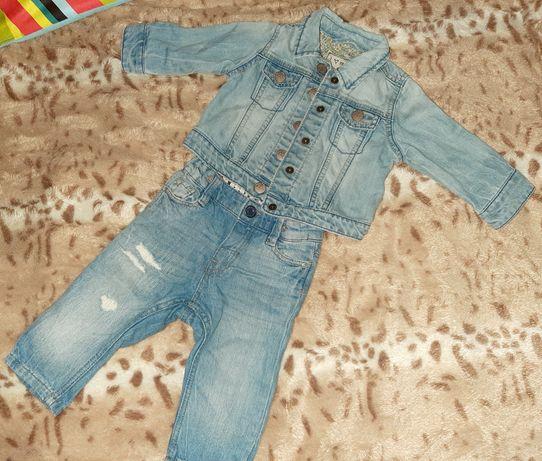 Крутой джинсовый костюм на малышку