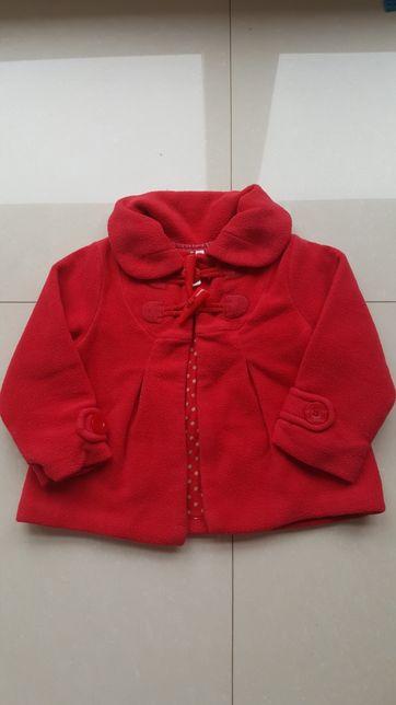 Next czerwony płaszczyk r.92 .Kurteczka dla dziewczynki 1,5-2 latka