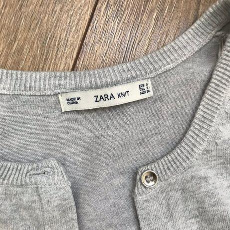 ZARA Szary sweterek z guzikami S