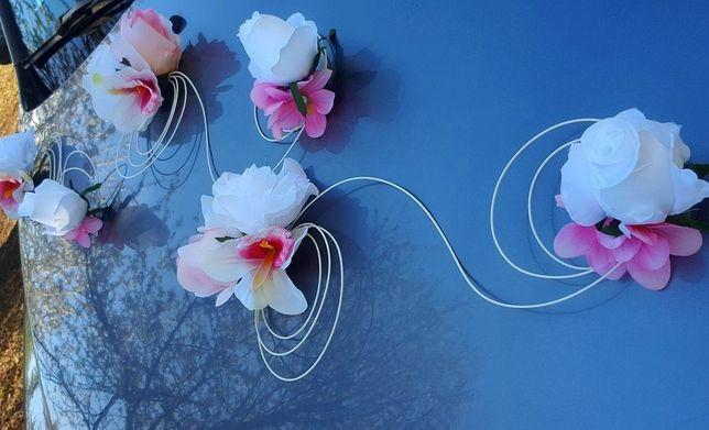 DEKORACJA SAMOCHODU ślubnego Storczyk, Róże, Ślub