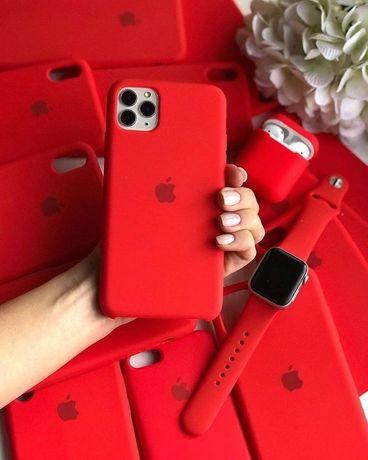 Apple Silicone Case іPhone - 6s/6+/7/7+/8/8+/X/XR/11 Чехол на Айфон