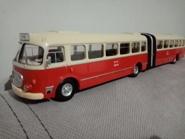 Autobus Jelcz Mex AP 02, przegubowy 1/43 ogórek przegub