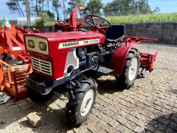 mini Tractor trator usado YANMAR  tração 4 rodas com fresa