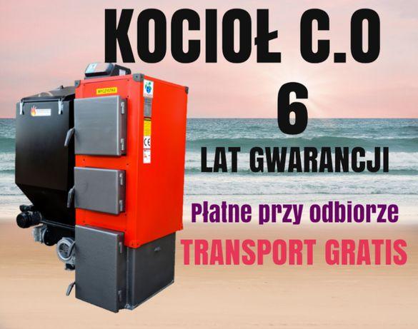 19 kW Kociol do 120 m2 PIEC z PODAJNIKIEM na EKOGROSZEK Kotly 17 18 19