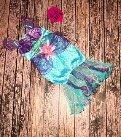 Новогоднее платье Русалка для девочки 5-6 лет, 110-116 см