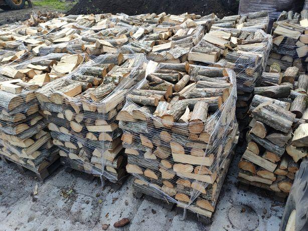Drewno kominkowe opałowe grab buk sosna dąb brzoza
