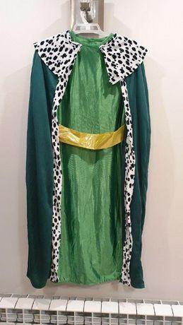 Strój Króla Melchiora Zielony 3 Króli dla dziecka 6-12 Lat