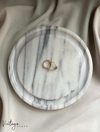 Podstawka marmurowa na biżuterię, świece, dekoracje