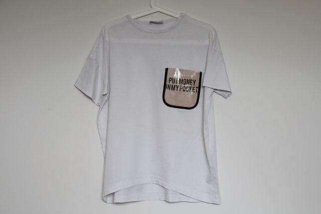 Koszulka z przezroczystą kieszonką Zara