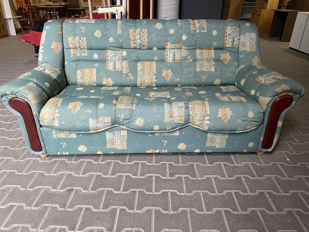 Sofa rozkładana kanapa rozkładana w zielonym kolorze
