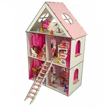 Кукольный домик LOL,Анабель, Барби игрушечный дом для кукол до 20см