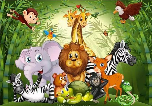 Decoração / poster para festa tema animais da selva / safari