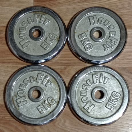 Хромированные диски HouseFit D30 мм, 5,1.25,0.5 кг