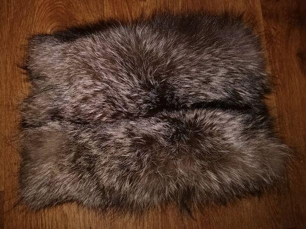 теплая натуральная меховая муфта из чернобурки