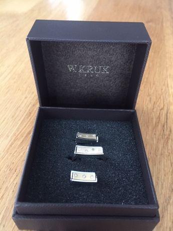 Komplet złota biżuteria kolczyki złote pierścionek Kruk Rezerwacja