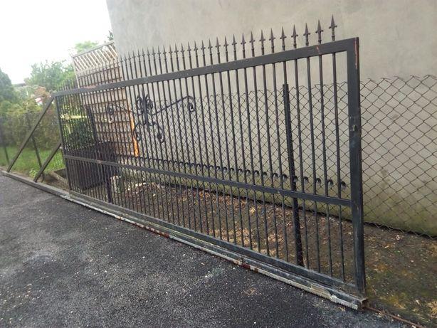 PRZESUWNA brama wjazdowa kuta elektryczna z rolkami 460CM/170CM