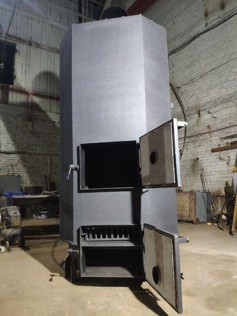 Котел нагрівач повітря, сухий, нагнітач с наддувом 120 кВт