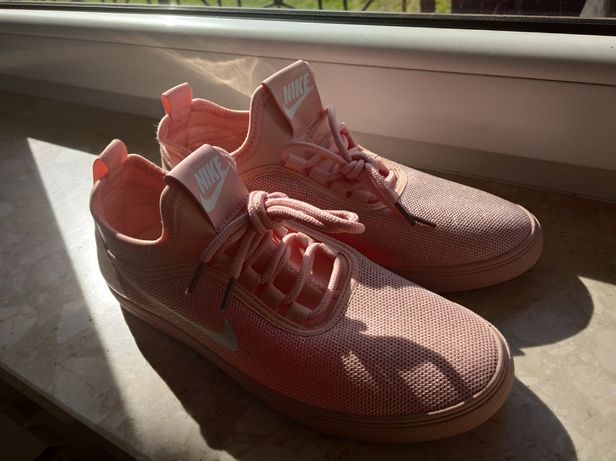 Nike Trampki adidasy slip on złoto różowe