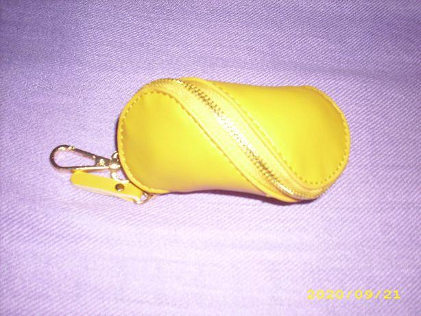 Saszetka na klucze żółta