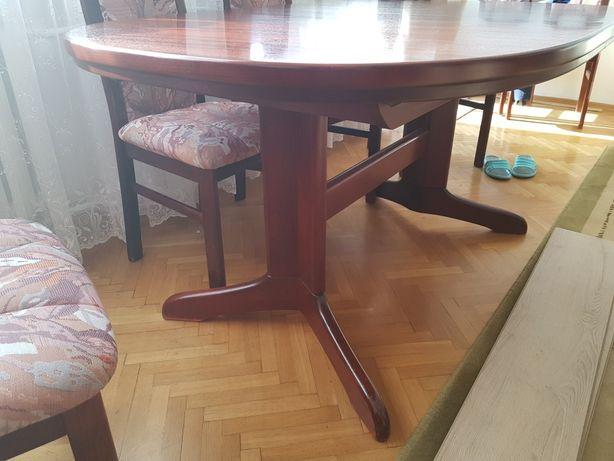 Komoda witryna stół krzesła - meble drewniane
