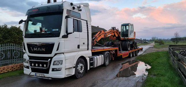 Transport: niskopodwoziowy, maszyny, koparki, konstrukcje stalowe