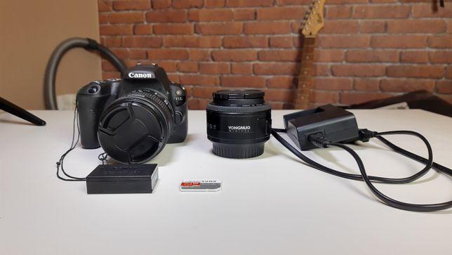 Canon 200D + 2 obiektywa + akcesoria