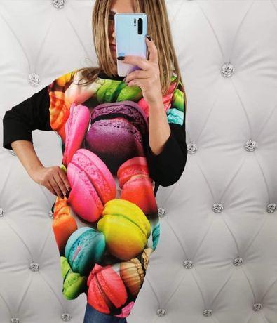 Śliczne sukienki mega kolorowe MAKARONIKI r.42/44/46 DRESOWE