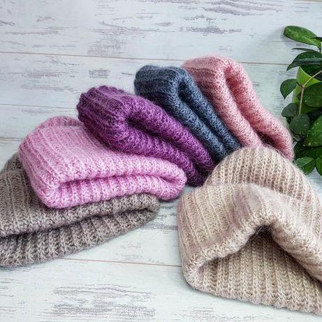 Вязаные шапки, ручная работа  , handmade