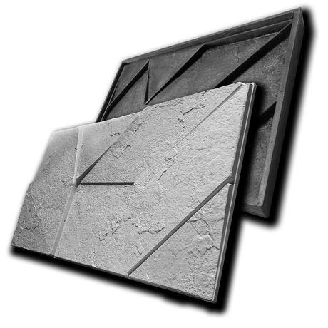 """Резиновая форма """"КВЕСТ"""" для 3D панелей ROCK - мягкая форма для гипса"""