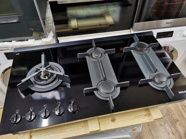 Płyta gazowa Miele KM325G szer.90 cm szkło palnik WOK 5 palników