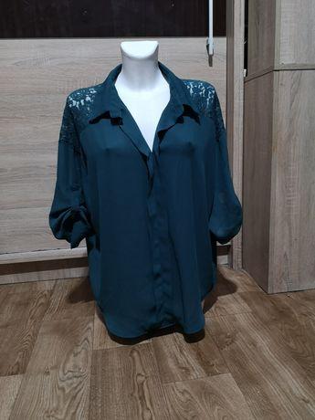 Bluzka koszulawa z koronką